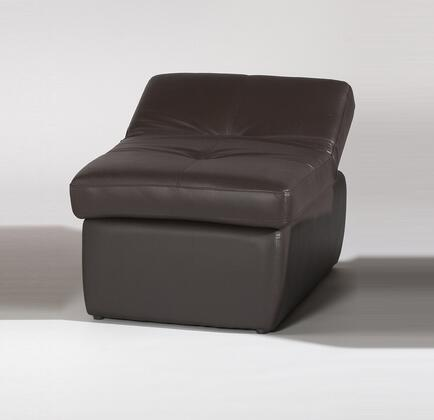 Chintaly SONOMAOTOBRW Sonoma Series Contemporary Leather Ottoman