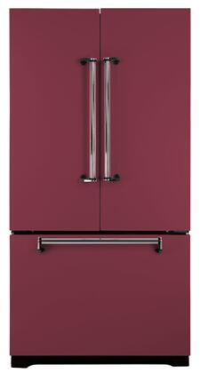 AGA AMLFDR20CRN Legacy Series Counter Depth French Door Refrigerator with 19.8 cu. ft. Capacity in Cranberry