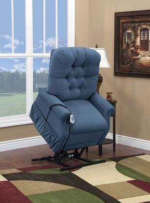 MedLift 1555PAAW Contemporary Fabric Wood Frame  Recliners