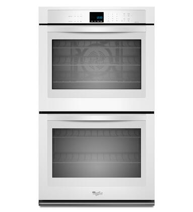 "Whirlpool WOD93EC7AW 27"" Double Wall Oven, in White"