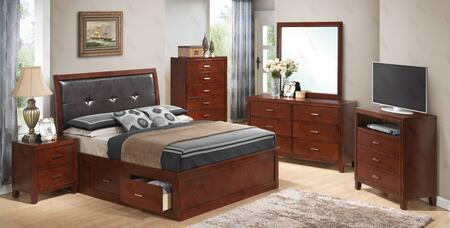 Glory Furniture G1200BQSBDMNTV G1200 Bedroom Sets