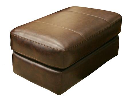 """Jackson Furniture Brantley Collection 4430-10- 42"""" Ottoman with Extra Thick Cushion, Bonded Leather Upholstery and Luggage Stitching in"""
