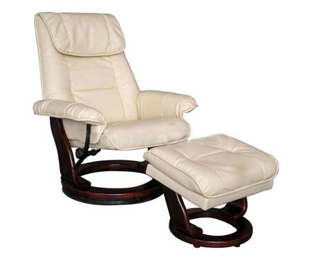 Lifestyle Solutions BL104BC753021 Pacific Coast Leather Collection Series  Leather Frame  Recliners
