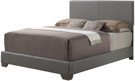 Glory Furniture Full Size Bed with Low Profile and Faux Leather Upholstery in