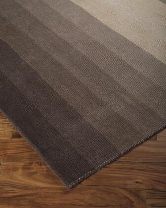 "Signature Design by Ashley Talmage R40011 "" x "" Size Rug with Ombre Design, Hand-Loomed, 2-3mm Pile Height and Wool Material Backed with Cotton Latex in Black and Tan Color"
