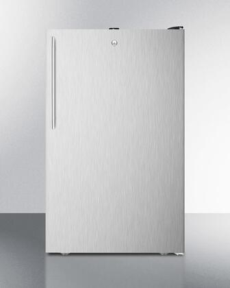 """AccuCold FS408BL7 20"""" Counter Height All-Freezer, With 2.8 cu.ft. Capacity, ADA Compliant, -20 C capable with Factory Installed Lock, Approved for Medical use, with Stainless steel Door and"""