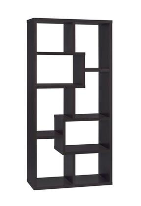Coaster 800264  Wood 8 Shelves Bookcase