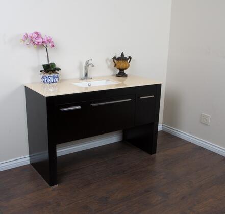 Bellaterra Home 804380RBLX 55.3 Single Sink Vanity - Black