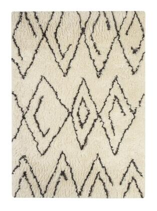 Signature Design by Ashley Mevalyn Collection R40025X Hand-Tufted Rug with Moroccan Flokati Look, Polyester Surface and Cotton Canvas Backing in White and Black