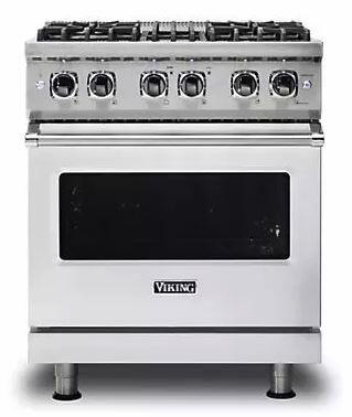 """Viking VDR5304BSSLP 30"""" Professional 5 Series Dual Fuel Freestanding Range with Sealed Burner Cooktop, 4.7 cu. ft. Primary Oven Capacity, in Stainless Steel"""