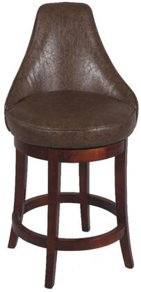 Chintaly 0290CS Residential Bonded Leather Upholstered Bar Stool