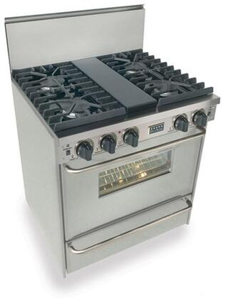 """FiveStar TPN2817 30"""" Freestanding Liquid Propane Range With 4 Sealed Ultra High-Low Burners, 3.69 Cu. Ft. Convection Oven, Manual Clean, Broiler Drawer"""