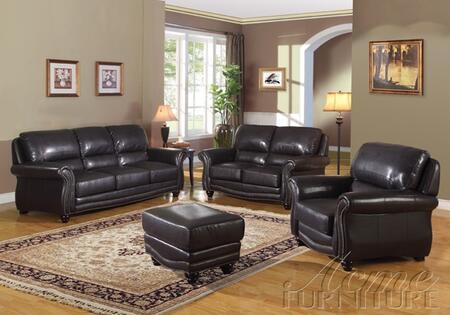 Acme Furniture 50106 Maloney Series Leather Loveseat