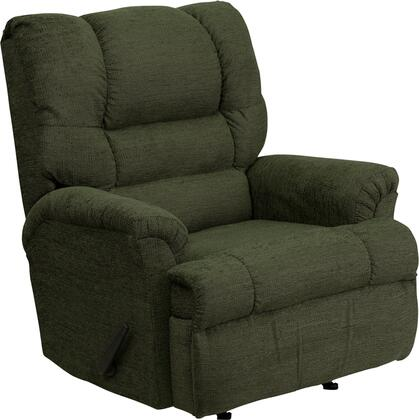 Flash Furniture HM500RADARGREENGG Contemporary Polyblend Wood Frame Rocking Recliners