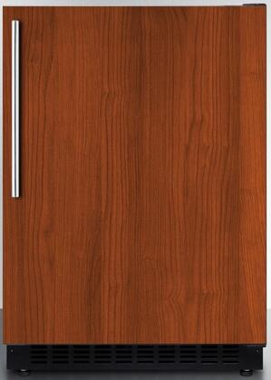 """Summit AL54x 24"""" ADA Compliant, Commercial Compact Refrigerator with 4.8 cu. ft. Capacity, Factory Installed Lock, Frost Free Operation, Open Door and High Temperature Alarm, in"""