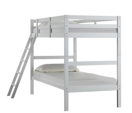 mission hills twin over twin bunk bed in white SMU51799 z.