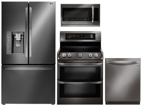 LG 742063 Black Stainless Steel Kitchen Appliance Packages