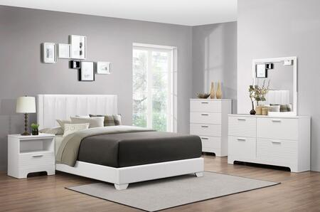Myco Furniture Moderno 5 Piece Full Size Bedroom Set