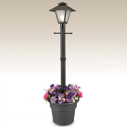 "Patio Living Concepts Cape Cod 6600 80"" Electric Coach Lantern Planter With Frosted Bevel Panels, All Resin Construction, Two Level Dimming On/Off Switch, 10' Cord And Plug, In"