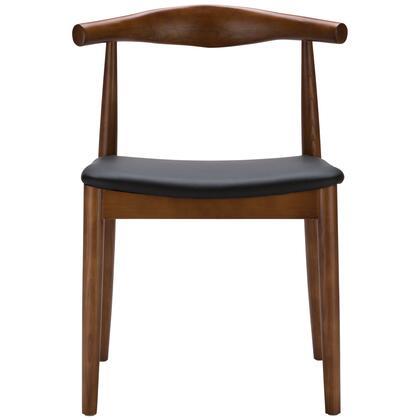 EdgeMod EM116WALX2 Keren Series Modern Wood Frame Dining Room Chair