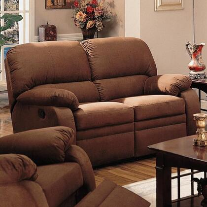 Coaster 600412 Microfiber Reclining with Wood Frame Loveseat