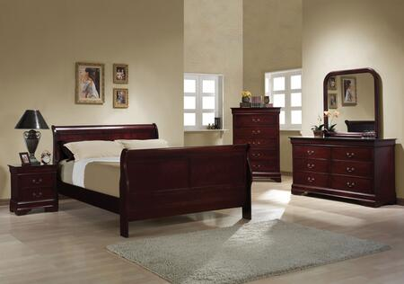 Coaster 203971FSET Louis Philippe Full Bedroom Sets