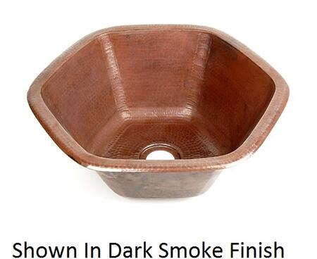 D'Vontz BP3002L35 Hexagon Copper Prep Sink With 77% Recycled Copper, 99% Pure Copper & In