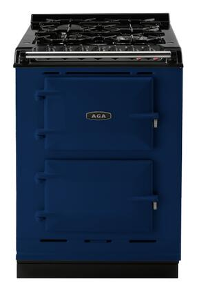"AGA ACMPNGSTDBL 24"" Companion Series Dual Fuel Freestanding Range with Sealed Burner Cooktop, 1.5 cu. ft. Primary Oven Capacity, in Dark Blue"