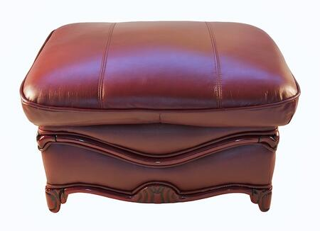 J. Horn C048BURG Traditional Leather Ottoman