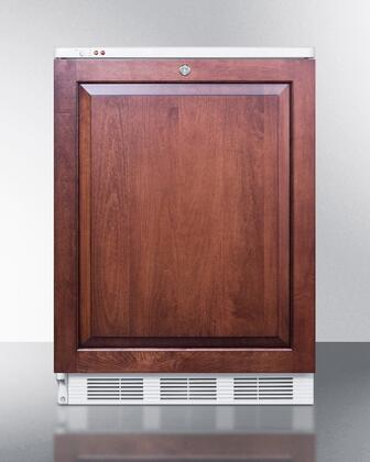 """Summit VT65MLI 24"""" Medical Use Freezer with 3.5 cu. ft. Capacity, Factory Installed Lock, -25 Degrees C Capable, 3 Slide-Out Drawers, and Adjustable Thermostat: Panel Ready, X Hinge"""