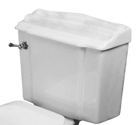 Barclay T2523 Victoria Collection Vitreous China Round Front Toilet Tank Only with Syphon Jet Flush, and White Plastic Flush Handle