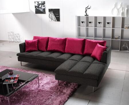 VIG Furniture VGHOE29C Prego Series Sofa and Chaise Fabric Sofa