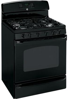 GE JGBP89DEMBB  Gas Freestanding Range with Sealed Burner Cooktop, 5.0 cu. ft. Primary Oven Capacity, Oven in Black