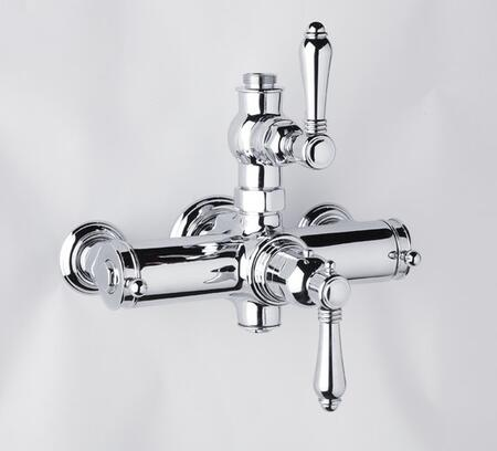 Rohl A4917LM Country Bath Collection Exposed Thermostatic Mixer with Metal Levers: