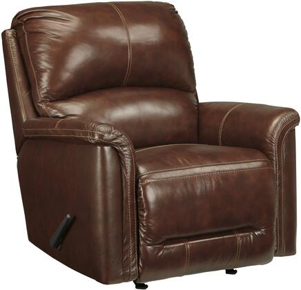 Signature Design by Ashley 8660125 Lacotter Series Contemporary Leather Metal Frame Rocking Recliners