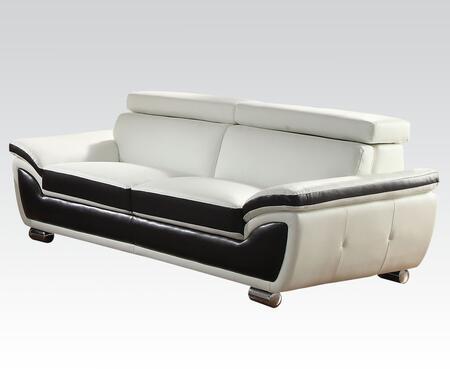 Acme Furniture 50145 Olina Series Stationary Leather Match Sofa