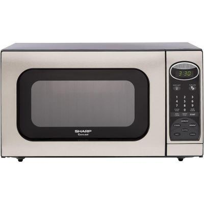 Sharp R405KST Stainless/Stainless look Countertop Microwave