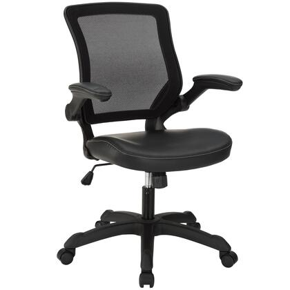 Modway EEI-291 Veer Vinyl Office Chair with Modern Design, Breathable Mesh Back, Vinyl Covered Sponge Seat, Pneumatic Height Adjustment, Tilt Tension Control, and 330 lbs. Capacity
