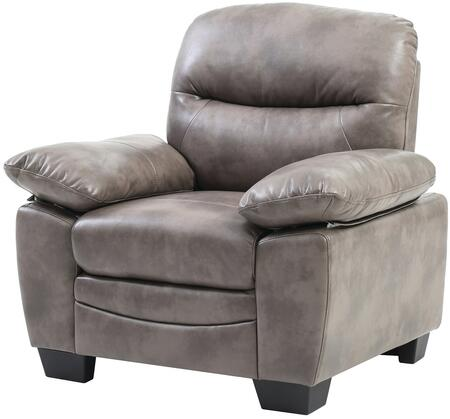 Glory Furniture G676C Faux Leather Armchair in Grey