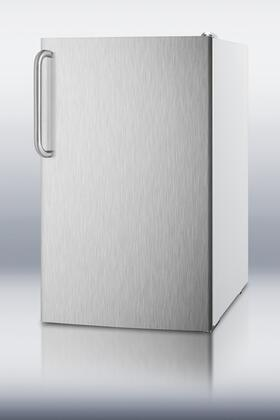 """Summit FS407LXBISSTB 20"""" Medical Series Counter Depth Freezer with 2.8 cu. ft. Capacity in Stainless Steel"""