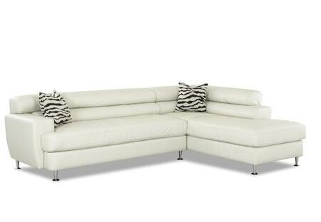 Klaussner BOCASECTIONAL Boca Series Sofa and Chaise Leather Sofa