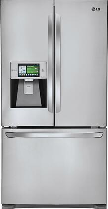 LG LFX31995ST  French Door Refrigerator with 30.7 cu. ft. Total Capacity 4 Glass Shelves