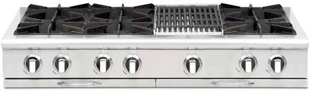 """Capital CGRT484B2L 48"""" Culinarian Series Gas Open Burner Style Cooktop, in Stainless Steel"""