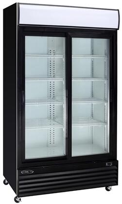 Kool-It KSMx Glass Door Merchandiser Series Refrigerators with cu. ft. Capacity, Shelves, HP, in Black
