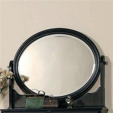 Yuan Tai MA6356M Marlon Series Round Landscape Dresser Mirror