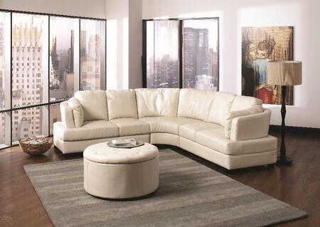 Coaster 503103  Curved Bonded Leather Sofa