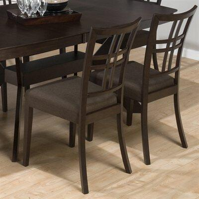 Jofran 471234KD Contemporary Fabric Wood Frame Dining Room Chair
