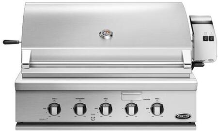 """DCS BH136RGI 36"""" Traditional Built-In Gas Grill with 2 Stainless Steel Burners, 1 Infrared Burner, Rotisserie, Smoker Tray, and Griddle, in Stainless Steel"""