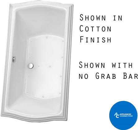 Toto ABR781T Clayton Series Drop-In Airbath Tub with Cast Acrylic Construction, Slip-Resistant Surface, and Grab Bar, White Finish