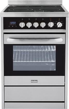 """Haier HCR2250AxS 24"""" Freestanding Range with Convection, in Stainless Steel"""